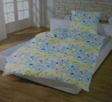 Schlafwohl Microfaser Bettwäsche Set 4 teilig 135 x 200 cm Schmetterlinge