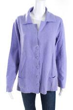 Maria Di Ripabianca  Womens Cardigan Sweater Purple Cashmere Size 12