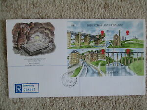 1989 INDUSTRIAL ARCHAEOLOGY MIN SHEET GPO COVER, IRONBRIDGE LISTED CDS CANCEL