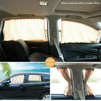 Universal Car Sun Shade Side Window Curtain Foldable UV Protection 50*39S Beige