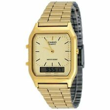 Casio Men's Classic Combi Bracelet Watch - Gold - New & Genuine (AQ230GA-9DMQ)