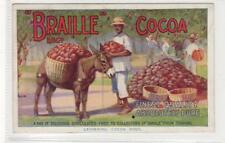"""BRAILLE"" COCOA: Advertising postcard (C29719)"