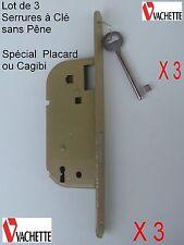 VACHETTE,3 Serrure Larder,1 Clé, Spécial Porte Cagibi,Placard,,Dimension:photo 2