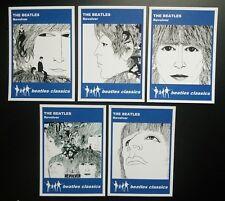 Set of 5 BEATLES CLASSICS trade cards - REVOLVER - Blue series