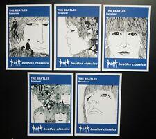 Set of 5 BEATLES CLASSICS trade cards - REVOLVER - Blue series