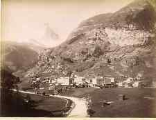Sommer. Suisse, Zermatt & Matterhorn  Vintage albumen print Tirage albuminé