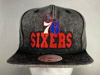 Mitchell and Ness NBA Philadelphia 76ers Team Snow Snapback Hat, Cap, New