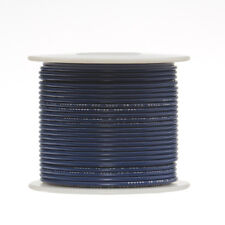 "16 AWG Gauge Solid Hook Up Wire Blue 100 ft 0.0508"" UL1007 300 Volts"