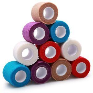 2'' Self-Adhesive Cohesive Wrap Bandage Elastic Waterproof First Aid Tape x10pcs