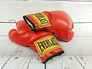 Vintage 12oz EVERLAST Red Training Boxing Gloves Fantastic Pre-Owned 13 inch
