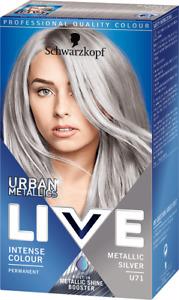 Schwarzkopf Live Urban Metallics Permanent Hair Colourant -  Metallic Silver U71