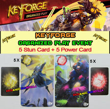KEYFORGE CALL OF THE ARCHONS - 5 Promo Stun Card + 5 Promo Power Card OP Event