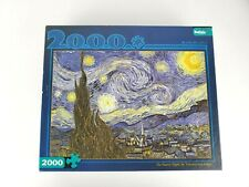 """THE STARRY NIGHT Vincent Van Gogh 2000 Piece Jigsaw Puzzle Buffalo Games 38""""x26"""""""