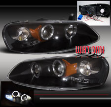 01-06 CHRYSLER SEBRING/DODGE STRATUS 4DR HALO LED PROJECTOR HEADLIGHT LAMP BLACK