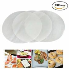 "100 X 20cm (8"") Non Stick Round Greaseproof Parchment Paper Cake Tin Liners"