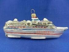 Cruise Ship Blown Glass Christmas Tree Ornament Travel Landmarks Poland 011274