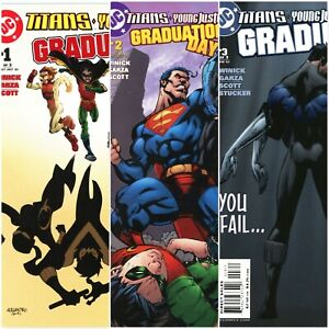 TEEN TITANS & YOUNG JUSTICE Graduation Day #1-3 Complete Mini Series DC COMICS