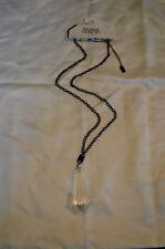 NEW Prabal Gurung for Target Large Crystal Pendant Necklace Black Chain