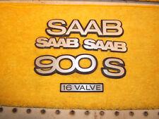 Saab 1991 900 16 Valve S Hatchback Hood rear hatch Genuine 1 set of 6 Emblems