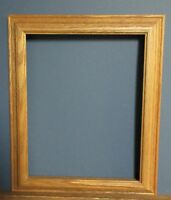 11 x 14 Honey tone solid oak hanging frame/hanger No Glass