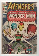 THE AVENGERS no. 9 1st appearance Wonder Man Vg- 3.5 0904