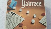 Vtng Yahtzee 1978 Original Board Game . Original Score pad, Dice, Cup And Chips