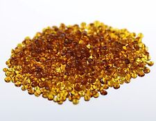 50 pcs Amber Polished baroque drilled beads
