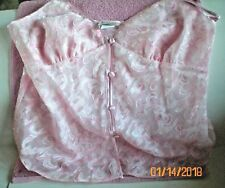 Cinema Exoile Camisole/Chemise Pink Size Medium 4 Buttons Down Front Pre Owned