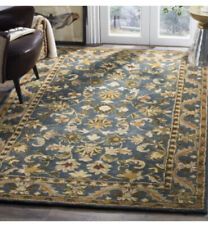 Hand-Tufted Antiquity BLUE / GOLD Wool Area Rug 5' x 8'