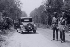 1934 Bonnie & Clyde Death Spot PHOTO Gunfight 1932 Ford Car Gangster Prohibition