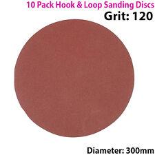 QTY 10 - 300mm 12 Inch Sanding Discs 120 Grit - Orbit Sander - Hook & Loop