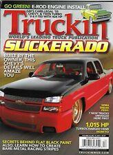 Truckin Magazine 2007 Silverado Classic E-Rod Engine Install Flat Black Paint