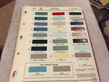 1963  FORD ,PAINT CHIPS CHART.  ALL MODELS