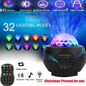 LED Galaxy Sternenhimmel Projektor Nachtlicht Starry Mond Weihnachten USB Light
