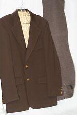 Vintage Medium Brown Leisure Suit Easy Living by Mtg Jacket 39L