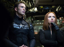 PHOTO CAPTAIN AMERICA   - CHRIS EVANS & SCARLETT JOHANSSON  - 11X15 CM  # 7