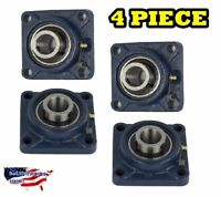 "UCF205-16 Pillow Block Flange Bearing 1"" Bore 4 Bolt Solid Base (4PCS)"