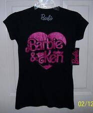 Barbie & Ken Womens Black T Shirt Top Size X Large See Measurements NEW