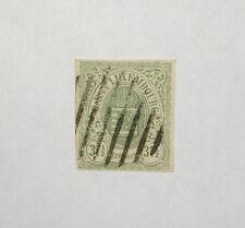 Luxemburg 1859: 37 1/2  Cent grün, geschnitten, Michel-Nr. 10 - gestempelt