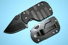 Thin and Lightweight All Black Small Pocket Folding Knife Fine edge blade 4.8 cm