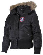 US Kinder-polarjacke N2b schwarz Kapuze mit Fellkragen XL
