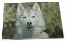 Siberian Husky Dog Extra Large Toughened Glass Cutting, Chopping Boar, AD-H1GCBL