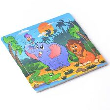Wooden Puzzles Jigsaw Toddler Kids Cartoon Early Learning Baby Educational Toys