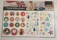 Sparkly Christmas Stickers|158 Large stickers| Brand New