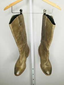 BANANA REPUBLIC Brown Leather Size 10 Western Knee High Boot