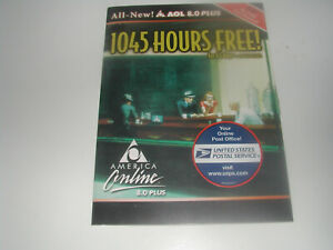VINTAGE Software:   AOL all new 8.0 plus 1045 HOURS FREE