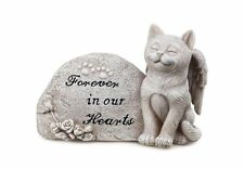 Small Cat Kitten Angel Forever In Our Hearts Memorial Stone