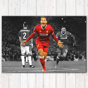 VIRGIL VAN DIJK - Canvas Print - Liverpool FC - LFC | Canvas Print | 5 Sizes