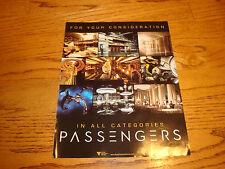 PASSENGERS 2017 Oscar ad with Jennifer Lawrence, Chris Pratt, Andy García
