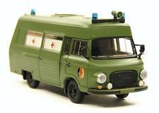 H0 BREKINA Barkas B 1000 Rettungswagen KK NVA ehem. DDR Armee Hochdach # 30404